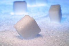 Sugar desert. Sugar cubes in sugar desert Stock Photography