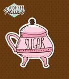 Sugar design Stock Image