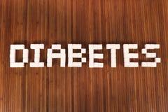Sugar and diabetes stock image
