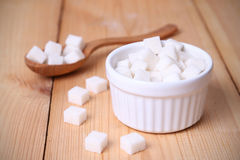 Sugar in dish Royalty Free Stock Images