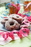 Sugar donuts Stock Image