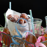 Sugar donuts Stock Images