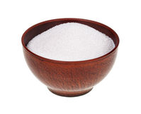 Sugar in the earthen bowl Royalty Free Stock Photos