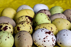 Candy easter eggs. Lots of little sugar easter eggs Stock Photo