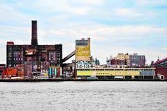 Sugar Factory in Brooklyn royalty free stock photos