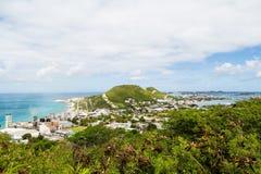 Sugar Factory on Mountainous Tropical Island Stock Photography