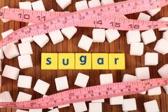 Sugar and fitness royalty free stock images
