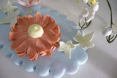 Sugar Flower. For cake decoration Royalty Free Stock Images