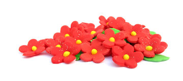 Sugar flowers cake decoration Stock Images