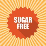 Sugar free badge. Flat style round label with text. Circular emblem vector illustration. Royalty Free Stock Photo