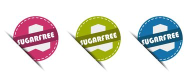 Sugar Free Buttons - Vector Illustration - Isolated on White stock illustration