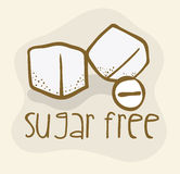 Sugar free design Stock Image