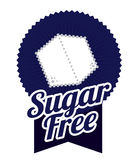 Sugar free design. Sugar free over white background, vector illustration Royalty Free Stock Photography