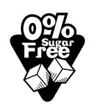 Sugar free design. Sugar free over white background, vector illustration Royalty Free Stock Images