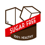 Sugar free design Stock Images
