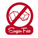 Sugar free design Stock Photos