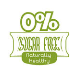 Sugar free design Stock Photography