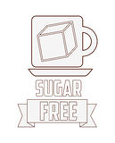Sugar free design. Vector illustration eps10 graphic Royalty Free Stock Images