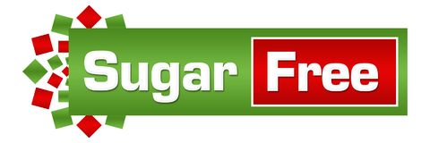 Sugar Free Green Red Circular-Bar Stock Afbeelding