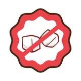 Sugar free guarantee seal Stock Photography
