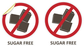 Sugar Free Icons Stockbild