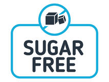 Free Sugar Free Label Vector. No Sugar Badge Isolated On White Background. Stock Photos - 95550933