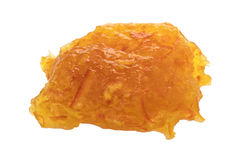 Sugar free orange marmalade blob stock photography