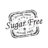 Sugar free rubber stamp Royalty Free Stock Photos