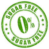 Sugar free rubber stamp Royalty Free Stock Photography