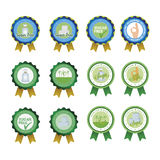 Sugar free. Set of sugar free labels on a white background. Vector illustration Stock Photos