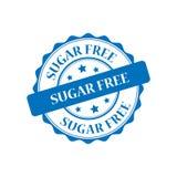 Sugar free stamp illustration Stock Image