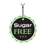 Sugar free tag Stock Photo