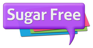 Sugar Free Text With Colorful-Kommentar-Symbole Stockfotografie