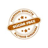 Sugar Free Vector Stamp. stock photos
