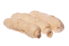 Sugar Ginseng Roots Macro Isolated Royalty Free Stock Images