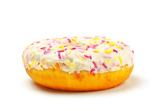 Sugar glazed donut Royalty Free Stock Photos