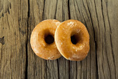Sugar glazed donut Royalty Free Stock Photography