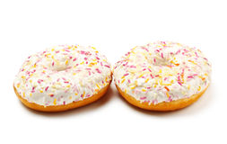 Sugar Glazed Donuts Royalty Free Stock Images