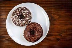 Sugar glazed donuts Royalty Free Stock Image