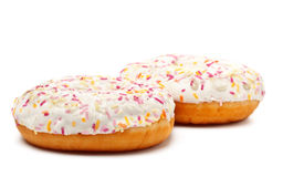 Sugar Glazed Donuts Stock Photos