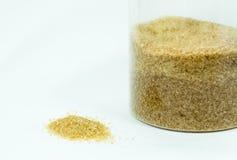 sugar granulado no refinado, caramelo de azúcar Fotografía de archivo
