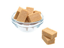 Sugar group in glass bowl Royalty Free Stock Photos