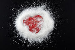 Sugar heart Stock Photography