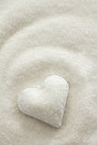 Sugar Heart. Heart covered in white sugar stock images