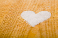Sugar heart on cutting board Royalty Free Stock Photography