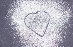 Sugar heart on plate Stock Photo