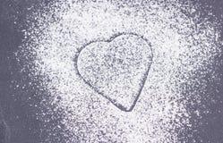 Sugar heart on plate Stock Photo