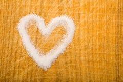 Sugar in heart shape Stock Photo