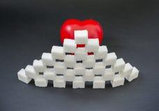 Sugar heart Stock Photo