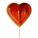 Sugar heart on a stick. Royalty Free Stock Image